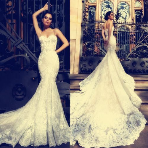 2018 Gorgeous Full Lace Mermaid Wedding Dresses