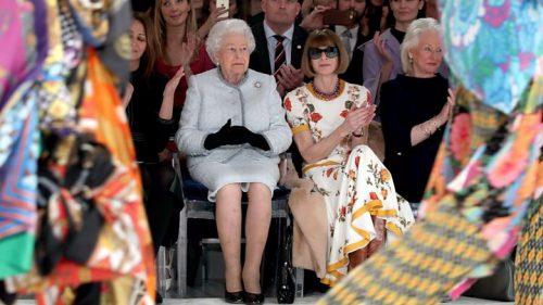 91-year-old British Queen & Dame Anna Wintour