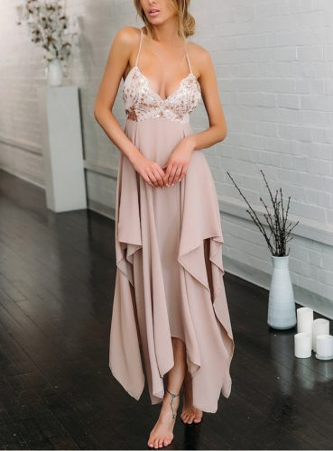 Best Seller V Neck Sequins Celebrity Dress