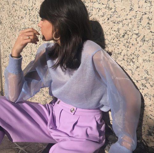 retro blue & violet