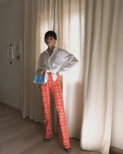 color vintage plaid pants