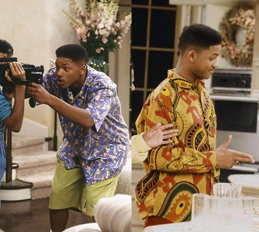 Will Smith in Printing shirt