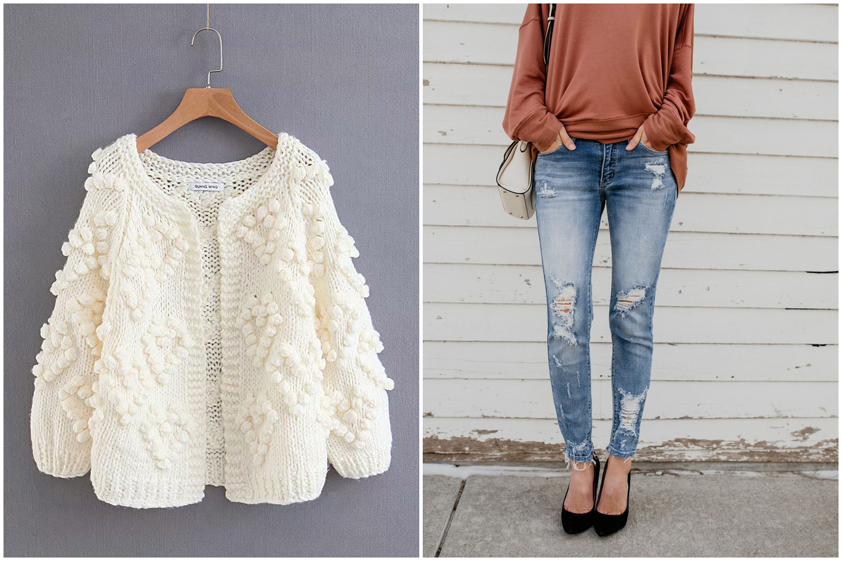 Cardigan and Jeans