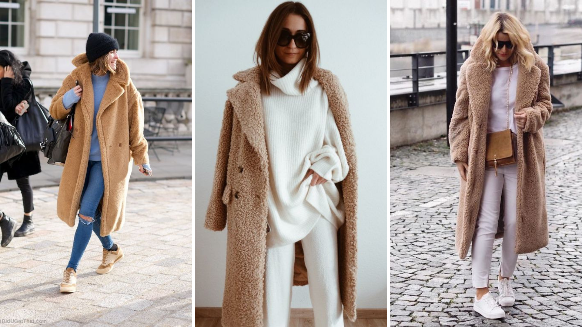 How to wear a camel teddy coat