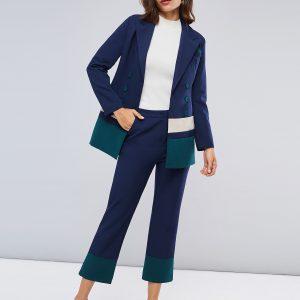Wholesale7 Korean Design Color Block Business Two Pieces Outfits