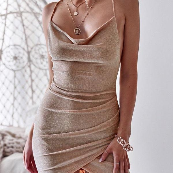 Wholesale7 Alluring Tie-wrap Bodycon Backless Dress