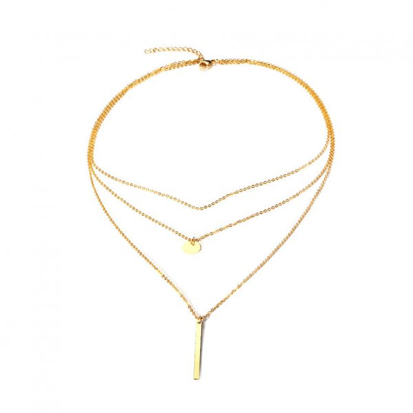 Wholesale7 Fashion Solid Geometric Pattern Necklace For Women