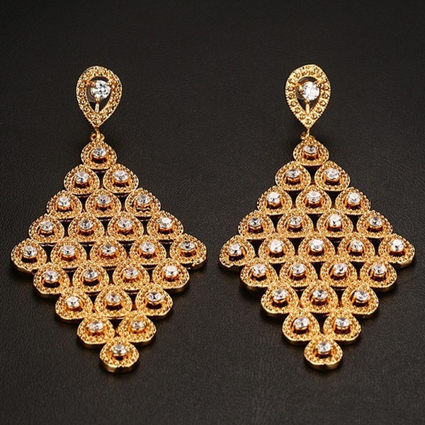 Wholesale7 New Arrival Zircon Hollow Out Women Earrings