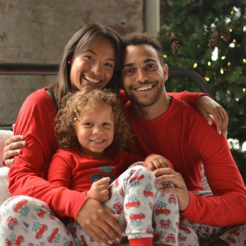 Christmas Printed Round Neck Family Pajama Sets