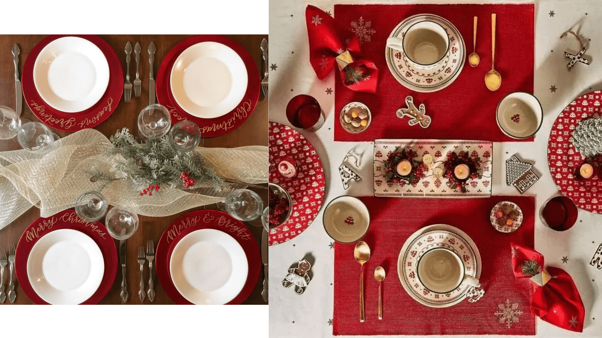 Christmas red tableware