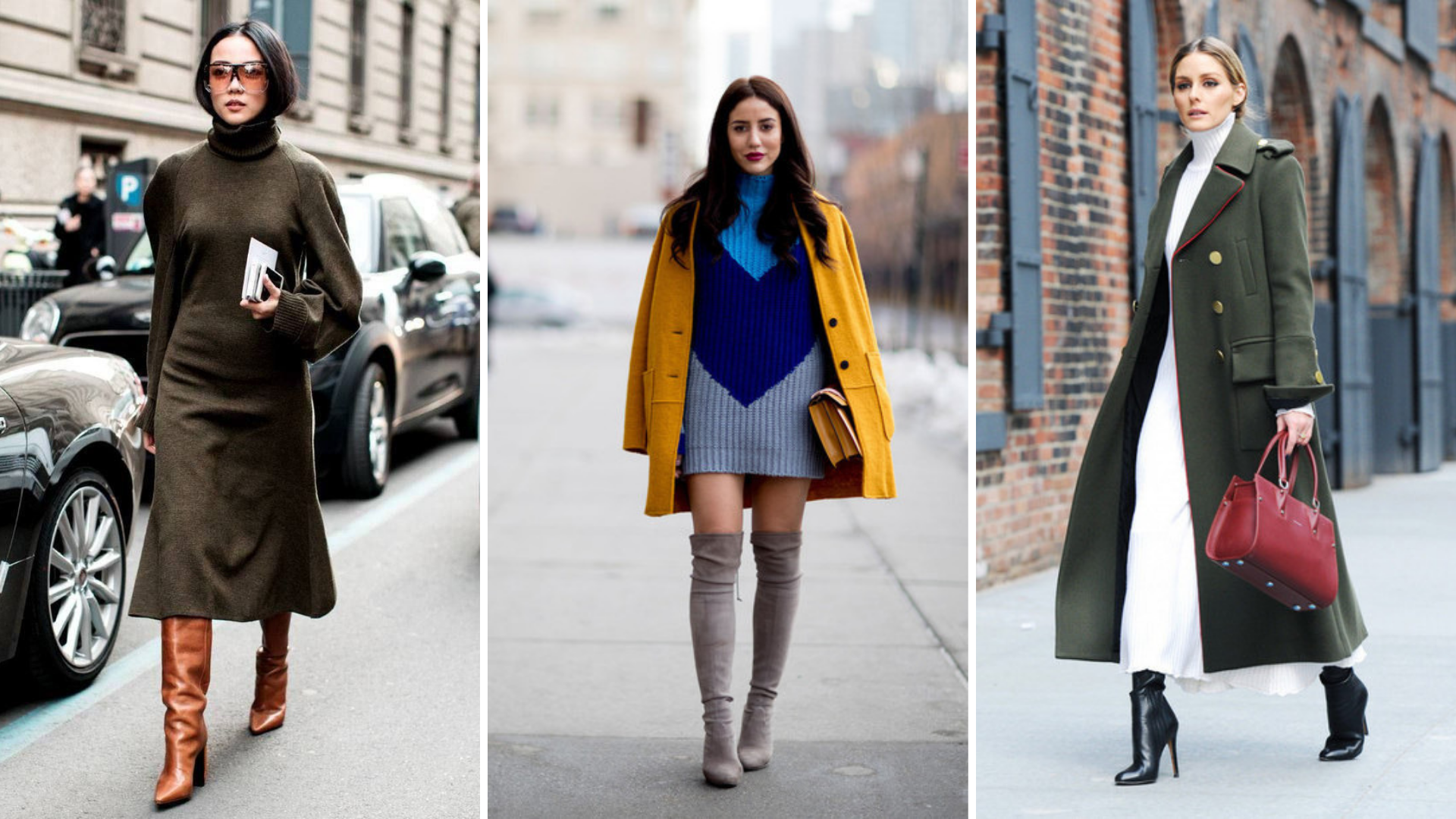 Knit Dresses Street Style