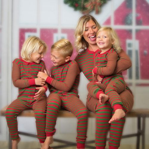 Striped Contrasting Colors Family Christmas Onesies
