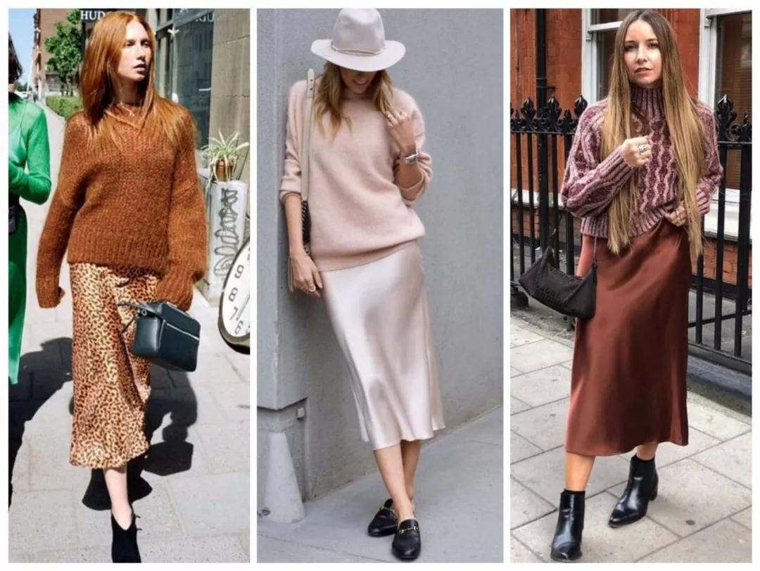 Sweater with Slip Dresses Style