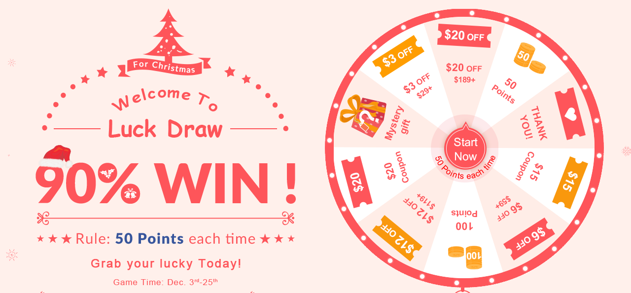 Wholesale7 Christmas Lucky Draw