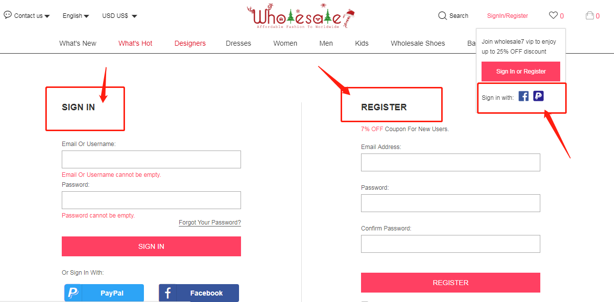 Wholesale7 how to log in