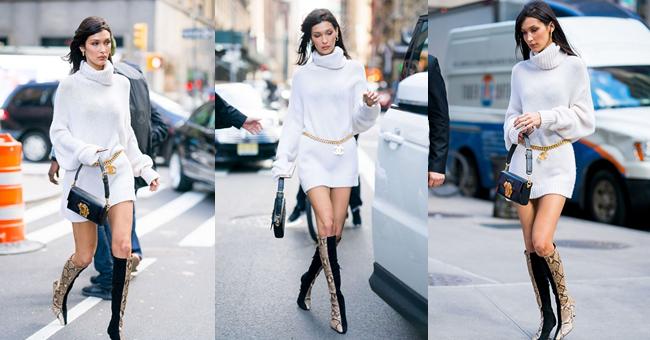 Bella Hadid Boots Style