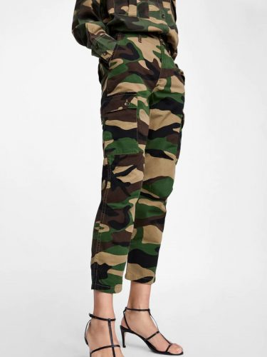 Casual Camouflage Cargo Pants For Women