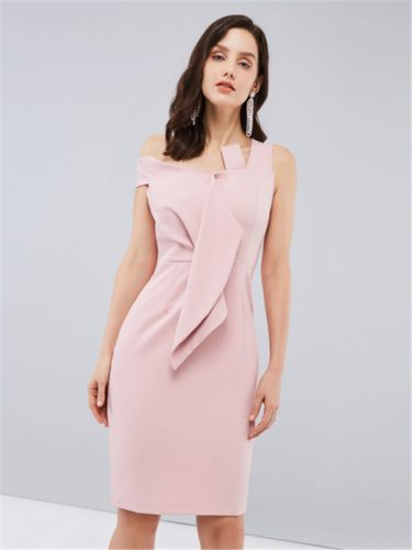 Elegant Sleeveless Bodycon Pink Dress