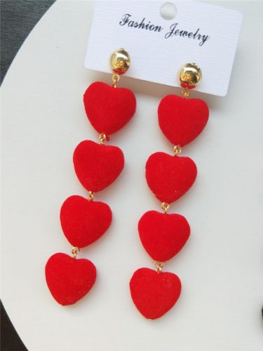 Personality Heart Fringe Sweet Earrings