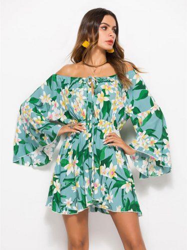 Hot Sale Off Shoulder Floral Dresses