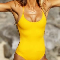 Knitting Rope Backless Piece Swimsuit