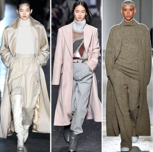 3 girls wear coats with super-long hems