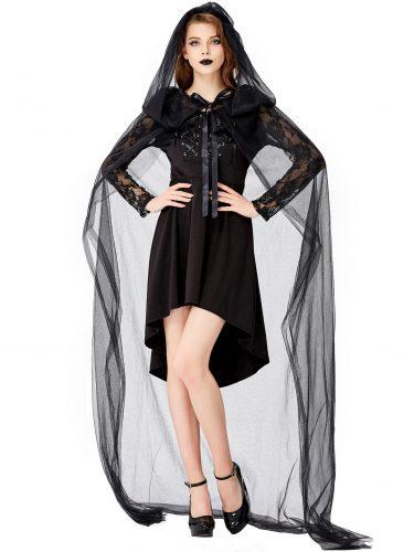 a girl dress black Vampire Costume