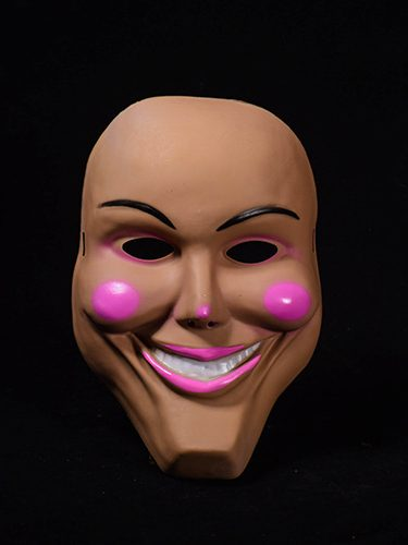 Halloween Scary Pink Cheeks Smiling Mask for men