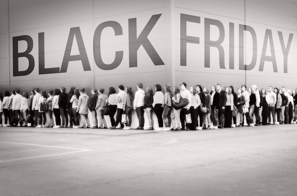 Black Friday lined up shoppers