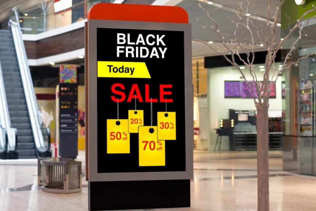 black friday discount messge