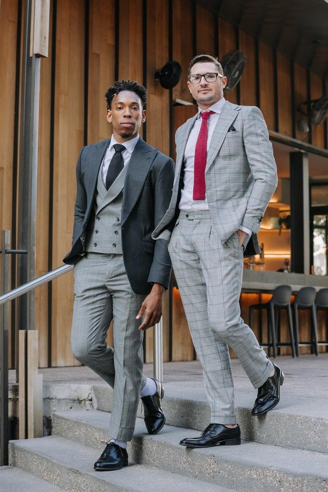 Plaid Suit Pants For men