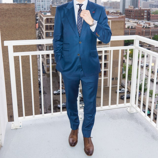 Innovative Blue Suit Pants
