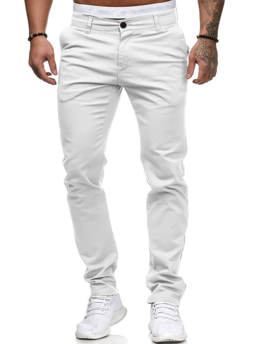 Euro Solid Casual Trousers For Men