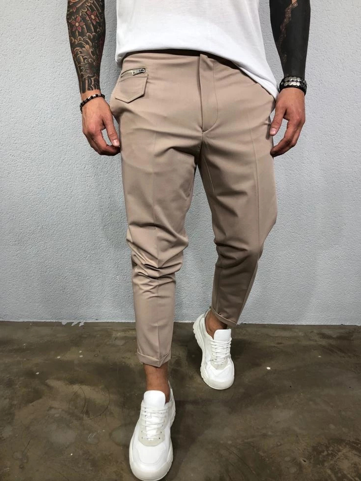Versatile Solid Straight Men's Pants