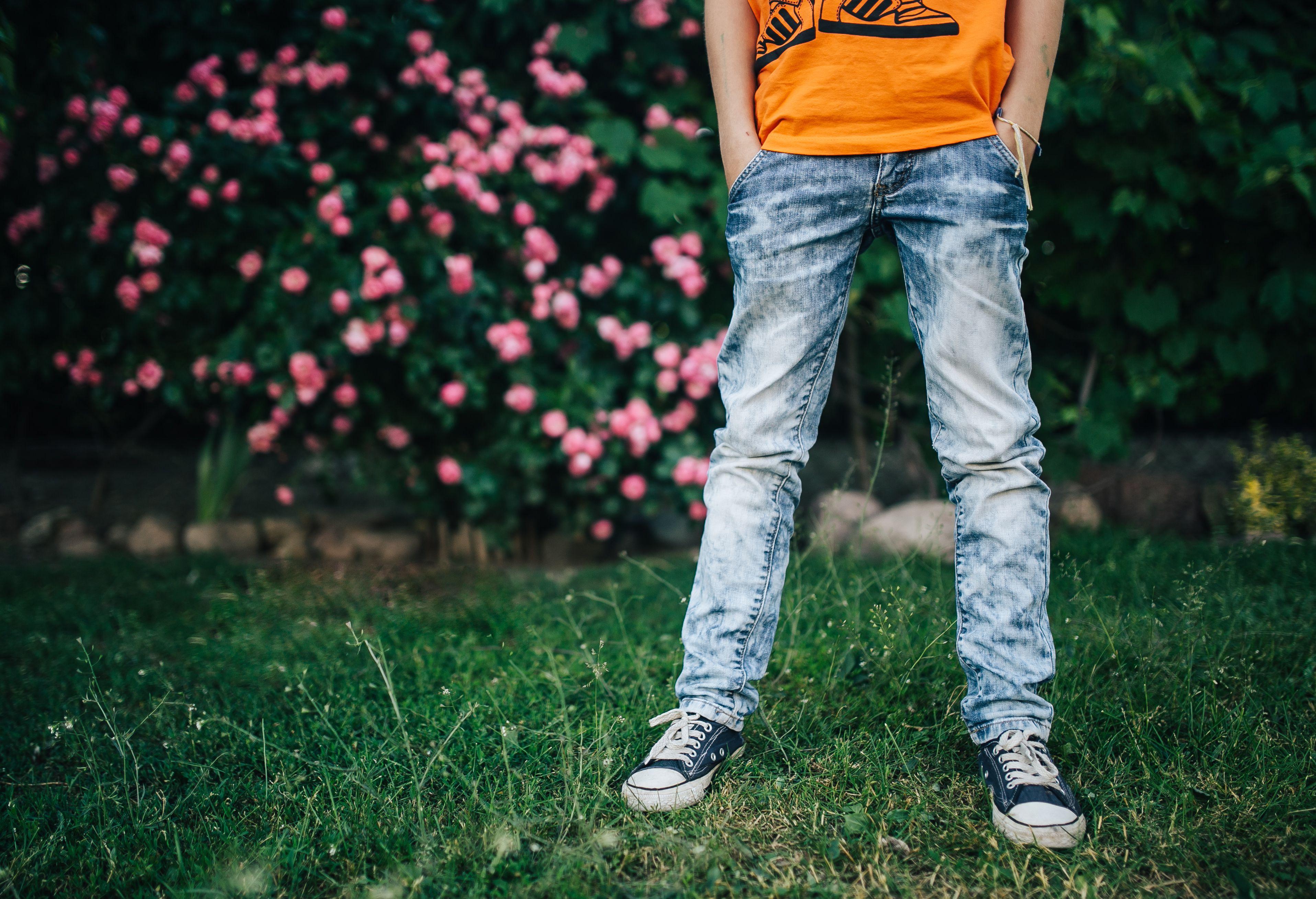 Colored Denim Skinny Pants