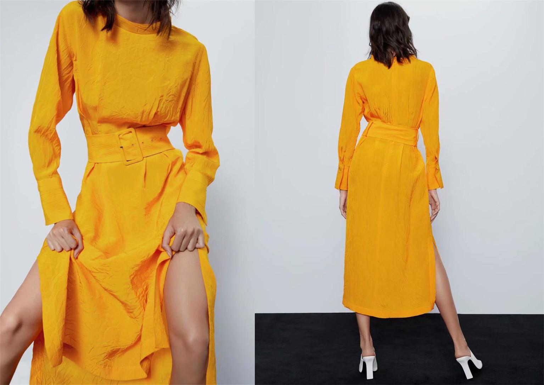 Solid Mock Neck Long Sleeve Maxi Dress