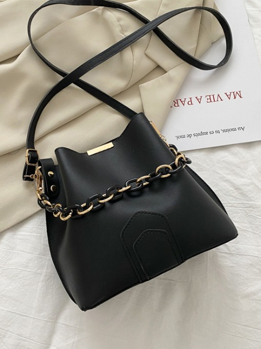 Casual Chain Bucket Shoulder Bags