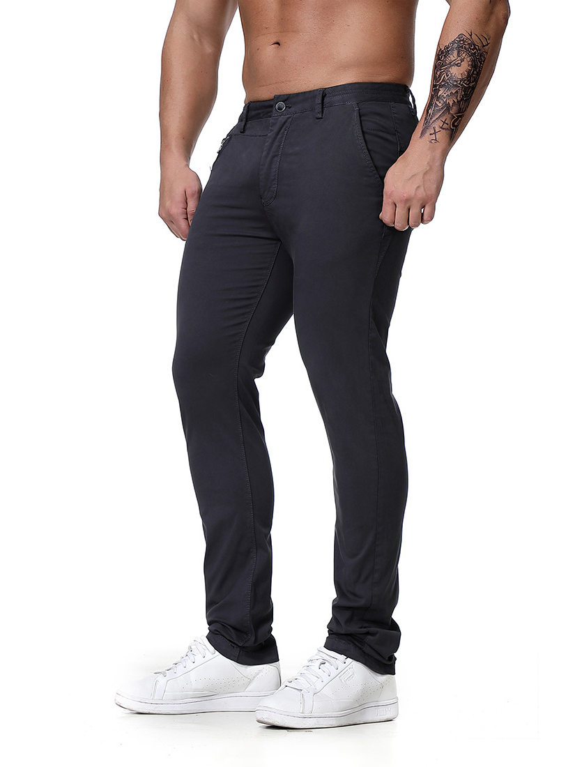 Casual Cotton Solid Trousers For Men