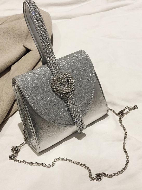 Glitter Rhinestone Chain Crossbody Shoulder Bags