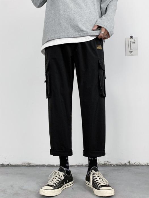 Solid Color Pockets lounge Pants For Men