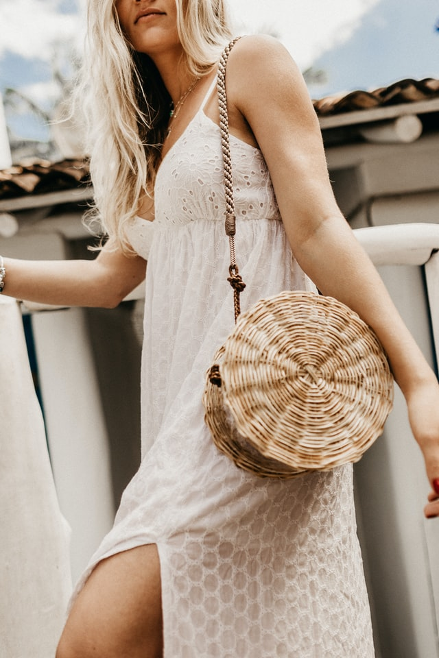 Fashion woven straw bag