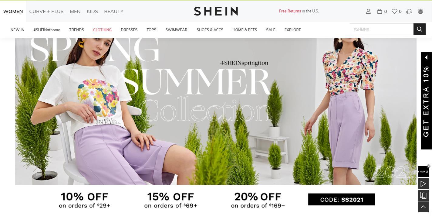 shein official website