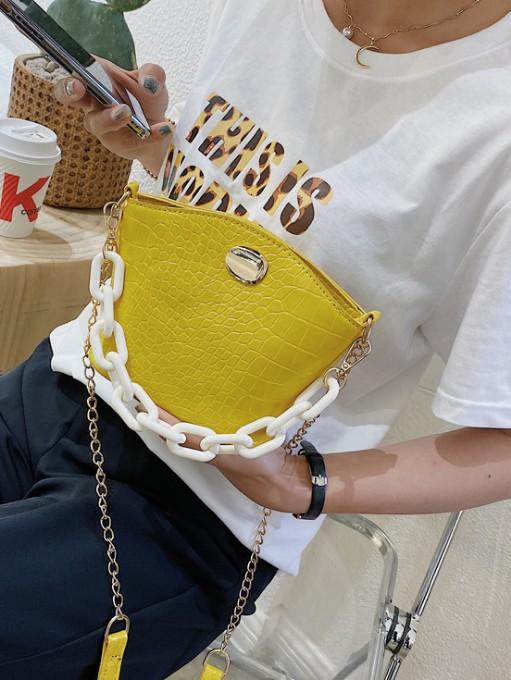 Fashion Alligator Print Solid Latest Shoulder Bag