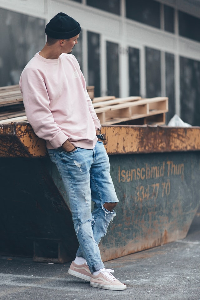 Pink casual sweater
