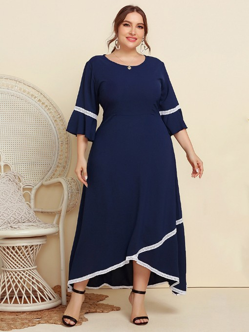 Baggy Spring Latest Plus Size Maxi Dress