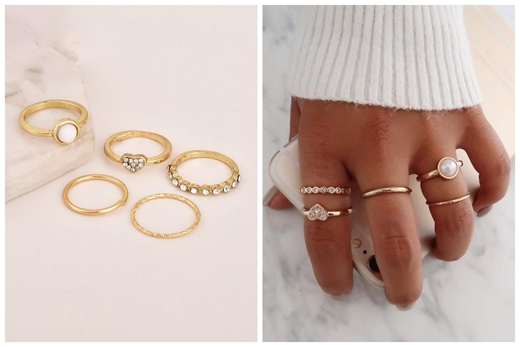 Casual Fashion Versatile Stylish Ring Sets