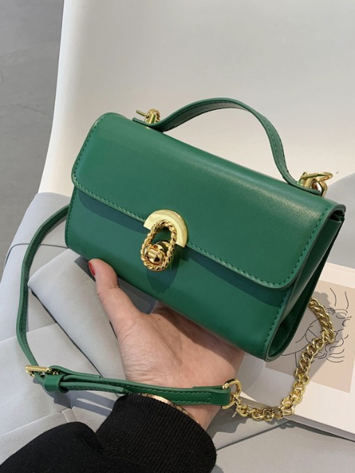 New Simple Twist Lock Chain Bags