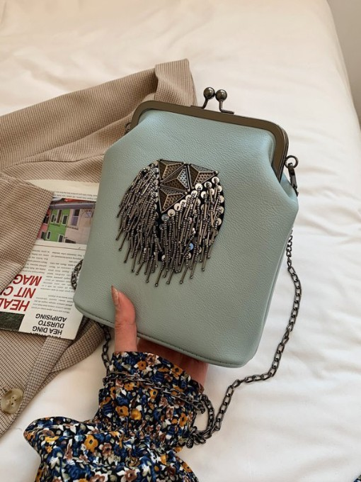 New Tassel Patch Chain Shoulder Bags