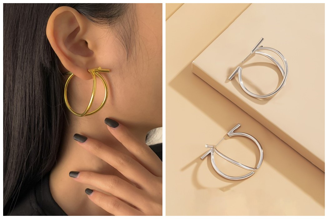 Simple Design Geometry Earrings For Ladies