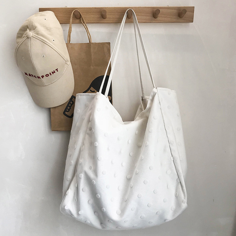 Minimalist Style Large Capacity Shopping Canvas Tote Bags